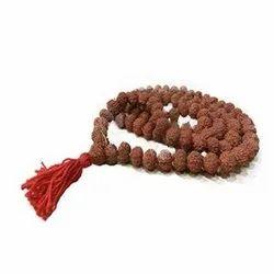 Natural 10 - Mukhi Rudraksha Rosary / Mala With Certificate (Java)