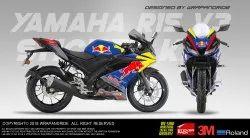 Yamaha R15 V3 Redbull Edition Full Body Wrap  Decal  Sticker