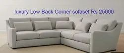 Luxury Low Back Corner Sofa Set