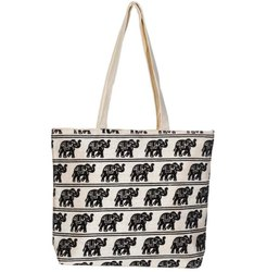 Cotton Animal Print Handicraft Tote Bags, Size: 30 X 30 Cm