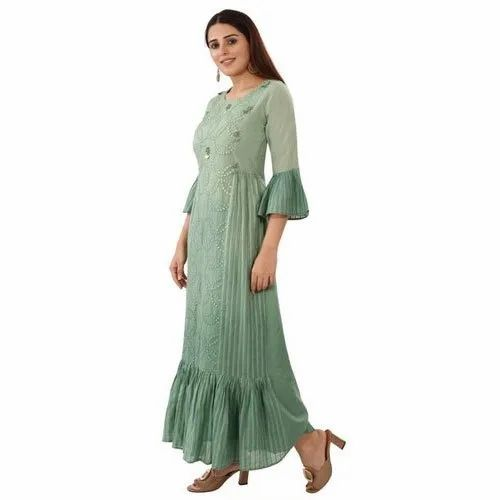 Cotton Party Wear Designer One Piece Dress Size S Xl Wash Care Dry Clean Rs 895 Piece Id 22538703097