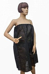 Disposable Waxing Non Woven Black Gown For Parlor, Spa, Hospital