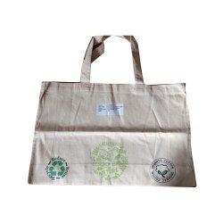 Handled White Organic Cotton Bag, Capacity: 5-10 Kg, Size/dimension: 30 X 15 Inch