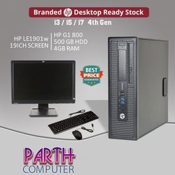 WIN8 Assembled HP Desktop Computer, Hard Drive Capacity: 500GB, Screen Size: 18.5