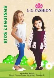 Straight Fit Plain Kids Leggings(2way)
