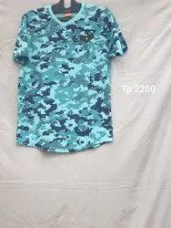 Hosiery Printed Mens V Neck Print Tshirt, Size: M-XXL Size
