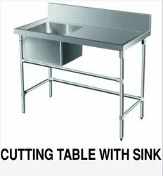 SS Cutting Table With Sink