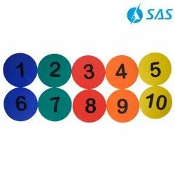 5 Numbered Spot Markers (Set Of 10)