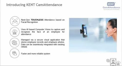 Kent Biometric Attendance Machine- AI Based Cam Attendance Face Detection And Touch Less Time Record