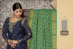 Lavina Vol-107 Satin And Georgette With Fancy Work Pakistani Fashion Dresses