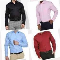Cotton Formal Shirts, For Sales,Office Staff, Regular Cut