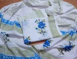 3 Piece Printed Work Cotton Suit