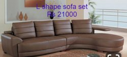 Brown L Shaped Sofa Set