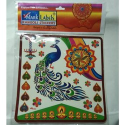 10 Inch Transparent Rangoli Sticker