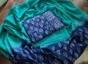 Blue And Green Beautiful 3 Piece Printed Work Suit