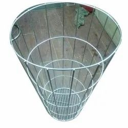 Glass SS Broom Stand, For Supermarket