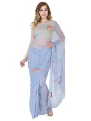 Saarvi Formal Wear Ladies Printed Saree, 6.3 m (with blouse piece)