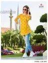 Lymi Originals Lemon Cotton Weaving With Value Addition Short Tops Catalog