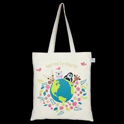 Long Handle Handled Printed Cotton Bag, Capacity: 25000 Pcs Per Month
