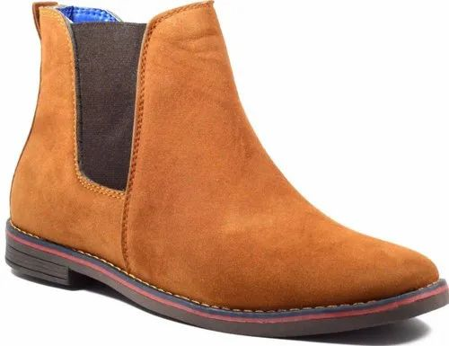 S-Win Daily Wear Mens Tan Suede Leather