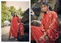 Aangroop Plus Straight Designer Silk Embroidered Salwar Suit, Dry Clean