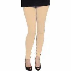 Churidar Plain Ladies Cotton Lycra Leggings, Size: Free Size