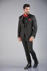 Party Plain Black Taxido Suit