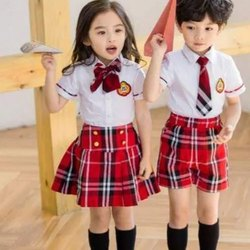 Summer Cotton Pre-School Uniform, For School, Size: S - L