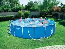White Outdoor 16ft round PORTABLE POOL BESTWAY, For Amusement Park, 4ft