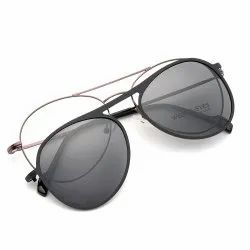 Tr Clip On Attachment Polarized Sun-Glass With Metal Frames  Brand Wolfeyes