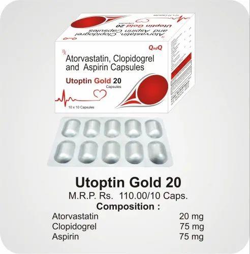 Atorvastatin 20 mg Clopidogrel 75 mg Aspirin 75 mg