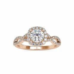 Double Shank DEF Round Cut Full White Moissanite White,Yellow,Rose Gold For Engagement