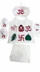 Pooja Dress ( Festive ) Sanchi Creation Baby Boys & Baby Girls Party(Festive) Vest Bloomer, 0 To 6 Month