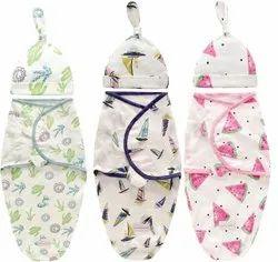 PEUBUD Cotton Soft Swaddles Wrapper Sleeping Bag, Size: 60 Cm X 60 Cm