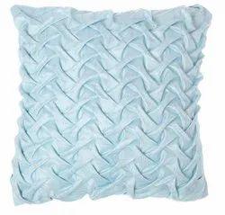 Sky Blue Handmade Satin Cushion Cover