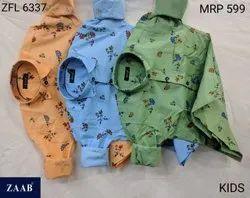 ZFL 6337 Kids Printed Shirts