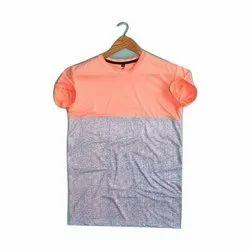 Cotton Plain Mens Round Neck T Shirt, Size: S-XXL