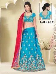 Ethnic Bollywood Party Wear Silk Lehenga Choli