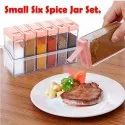 Plastic Spice JAR 6 in 1 Spice Rack Masala Box Set, 6-Pieces,Multipurpose Plastic Spice Rack