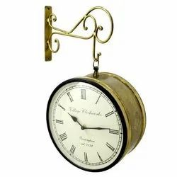 Handmade Brass Wall Hanging Clock