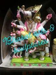 Marble Manibhadra Veer Statue