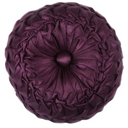 Plum Knitted Cushion Cover