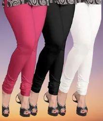 Plain Ladies Churidar Cotton Leggings