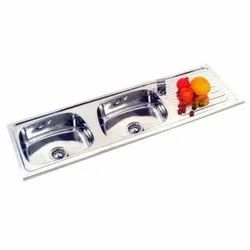 SS Double Bowl Kitchen Sink