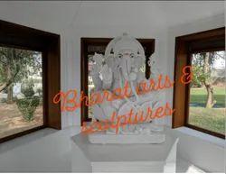 3 Feet White Marble Lord Ganesha Statue
