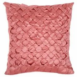 Peach handmade square cushion cover