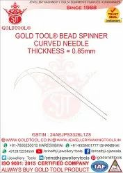 Gold Tool Bead Spinner Curved Needle