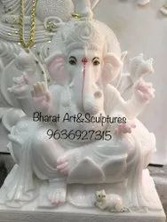 Pure White Marble Ganesh Statue