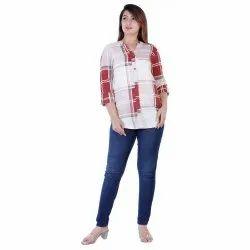 Ladies Checked Full Sleeve Shirt