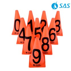 Numbered Cones Set (Set Of 10)